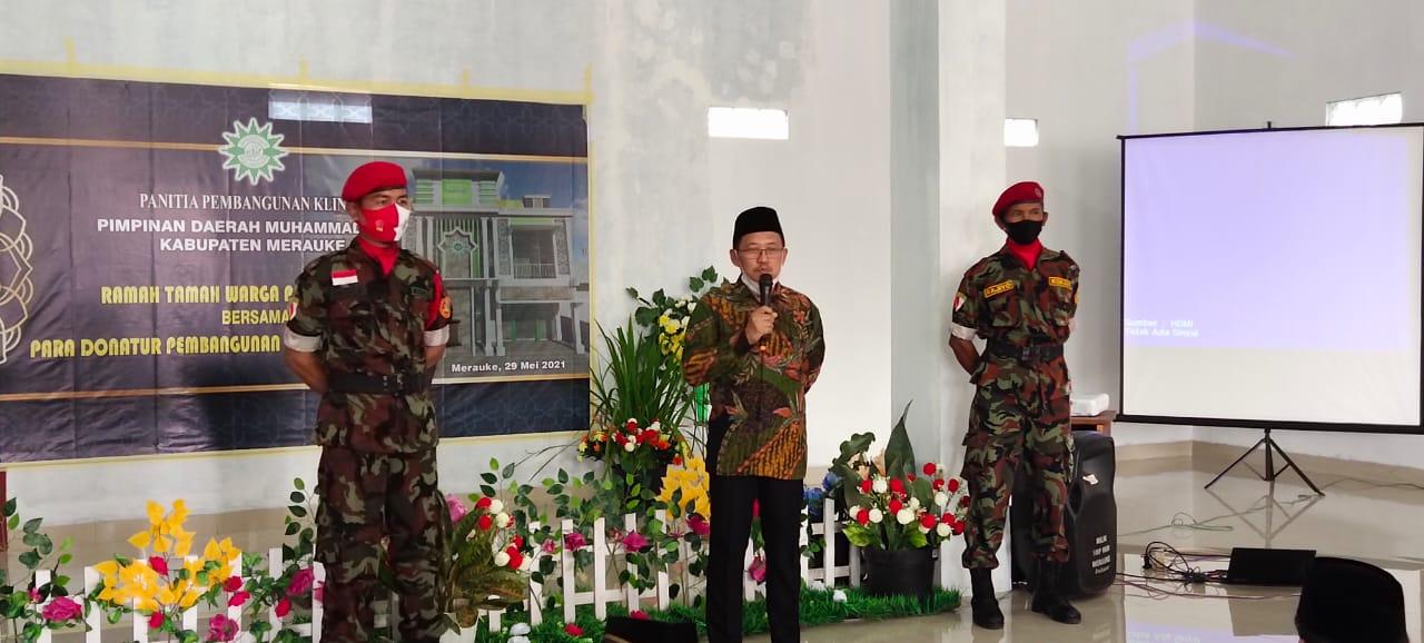 Wakil Bupati Merauke, H. Riduwan saat sambutan/UB