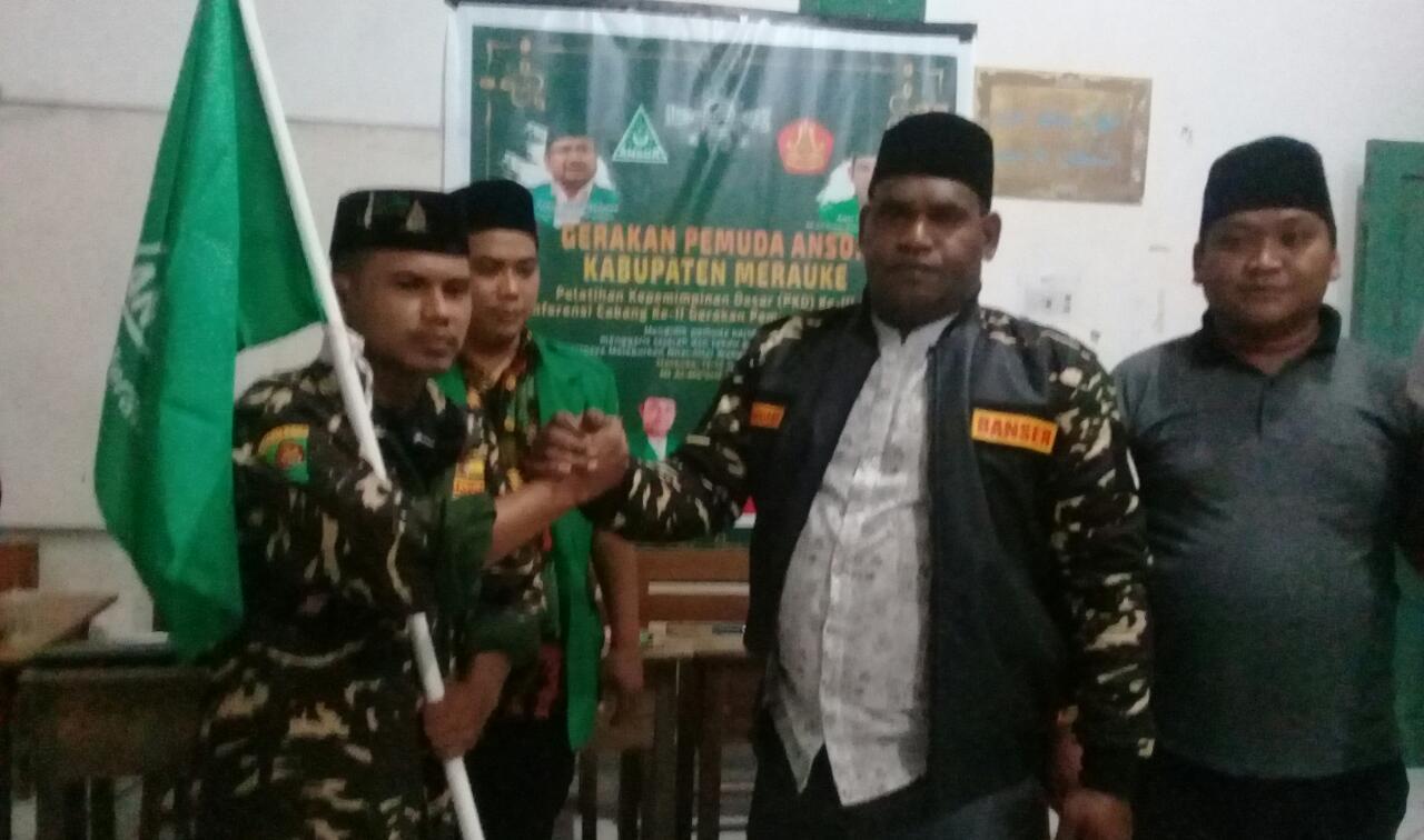 Alfi Syahri bersama Pimpinan Wilayah Ansor/UB